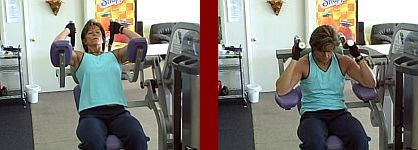 ab machine gym equipment start and finish picture