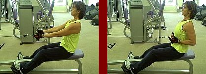 cable row gym equipment start and finish picture