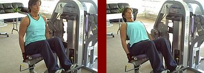 back extension machine gym equipment start and finish picture
