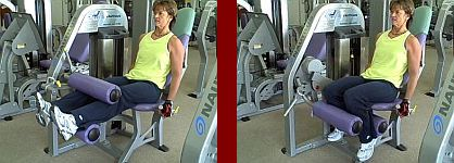 leg curl gym equipment start and finish picture