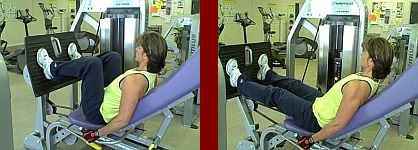 leg press gym equipment start and finish picture