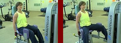 outer thigh machine gym equipment start and finish picture