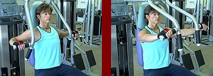 chest press gym equipment start and finish picture